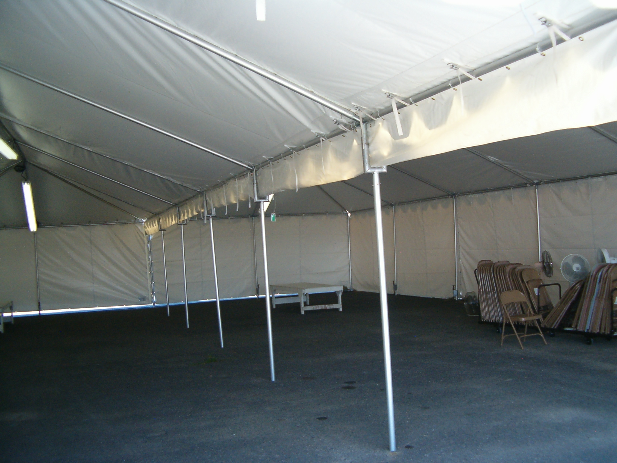 gutter connects two frame tents