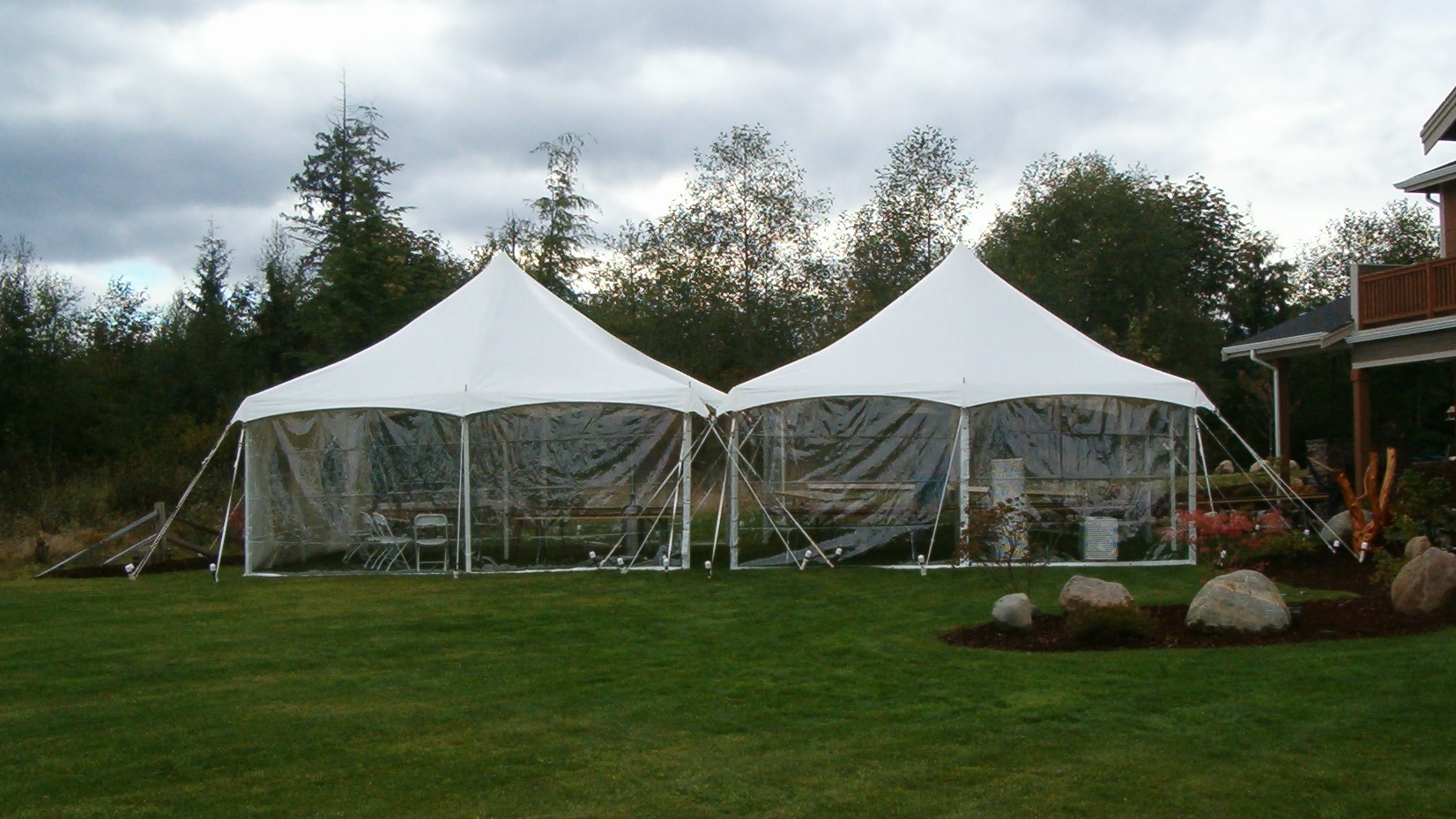 20x epic tent with clear sidewall